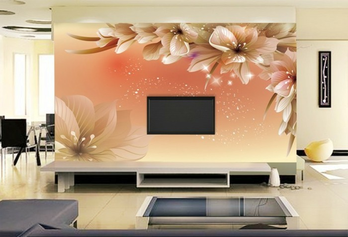 Vliestapete wohnzimmer ideen