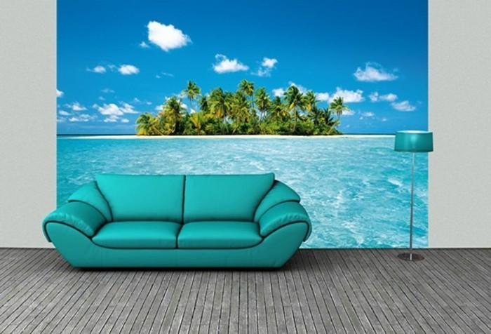 wunderschöne-gestaltung-vom-wohnzimmer-moderne-fototapeten-mit-mediteranner-thematik
