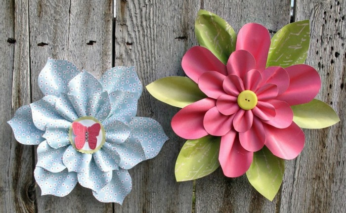 wunderschöne-papierblumen-an-der-wand-bunte-frische-farben-diy-ideen