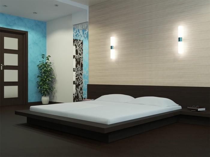 wunderschönes-modell-schlafzimmer-kreative-wandleuchten