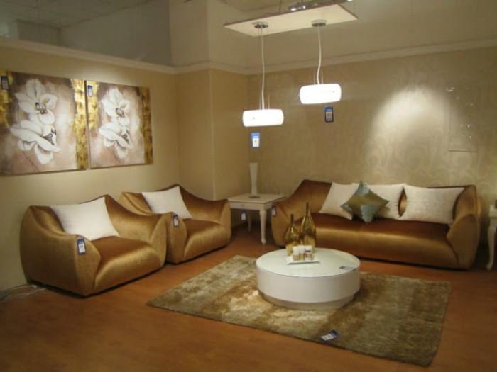 zwei-schöne-bilder-elegantes-sofa-in-braunen-farbschemen