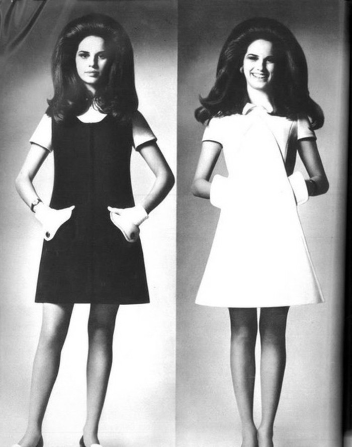 zwei-schöne-fotos-in-weiß-und-schwarz-20er-jahre-style-kleidung-und-haarfrisuren
