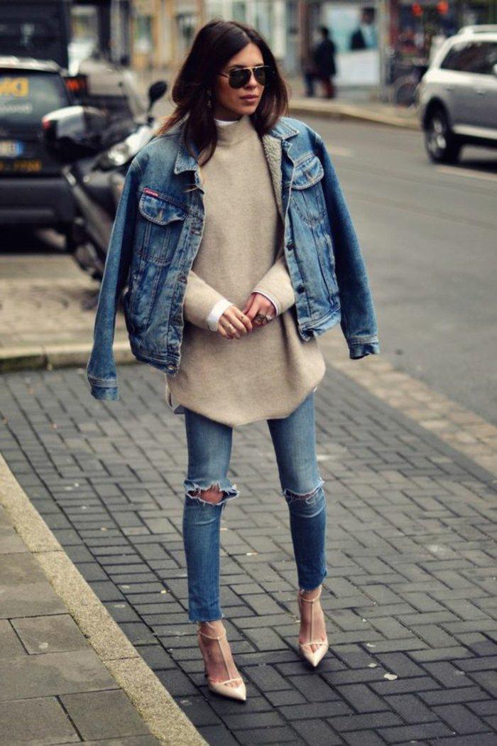 0-Denim-Jacke-Jeans-Maxi-Pullover-elegante-Schuhe-mit-Absatz