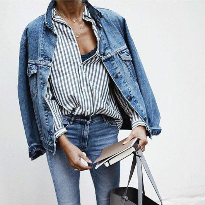 0-Jeansjacke-Jeans-Hemd-an-Streifen