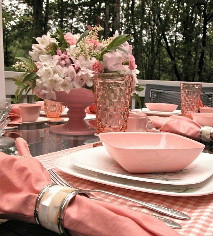 0 Fantastische Tischdekoration In Koralle Farbe Luxuriöse Servietten