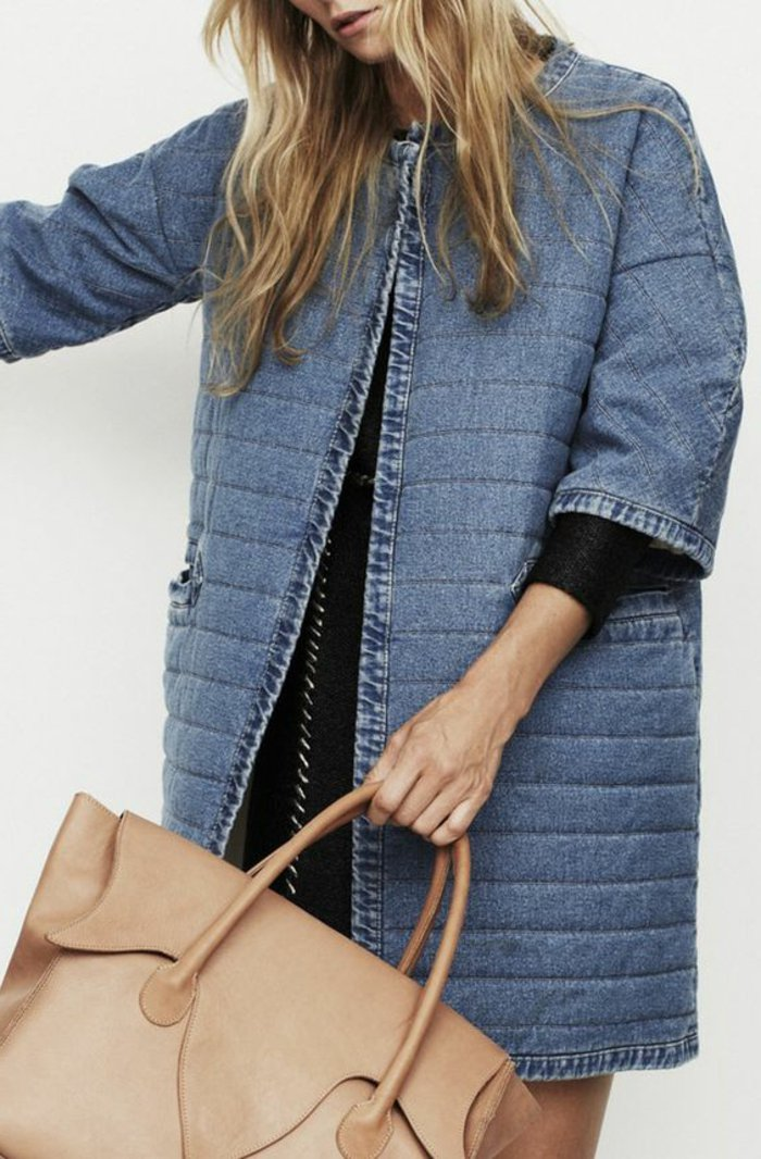 0-langes-Modell-Jeansjacke-2016-Trend