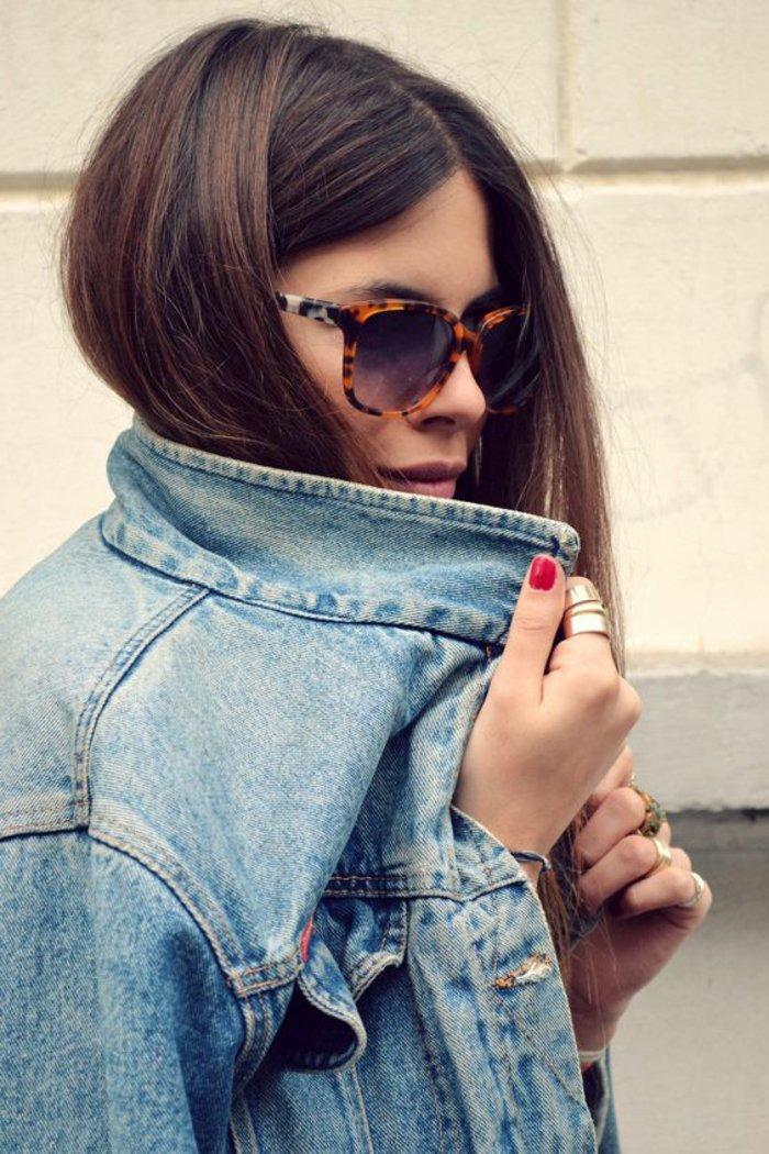 00-retro-Modell-Damen-Jeansjacke-Sonnenbrillen