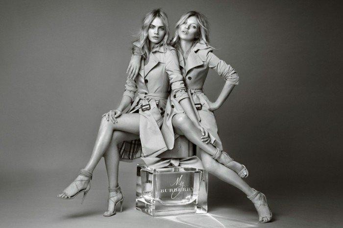 1-Kate-Moss-und-Cara-Delevigne-mit-Burberry-Mantel