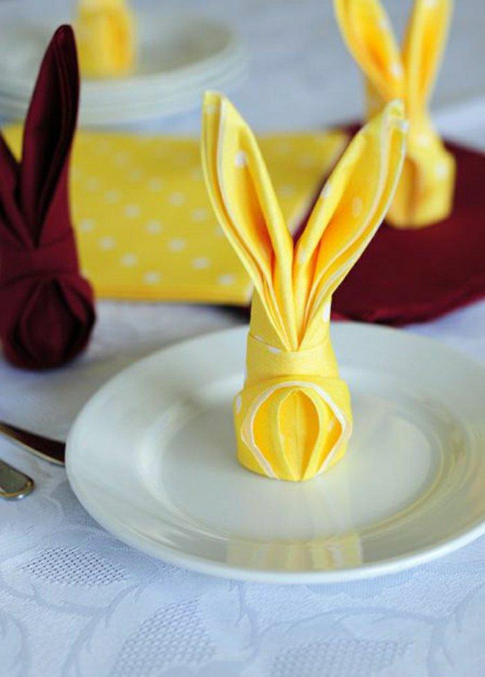 Osterhasen Aus Servietten Falten können sie servietten falten wir helfen dabei archzine