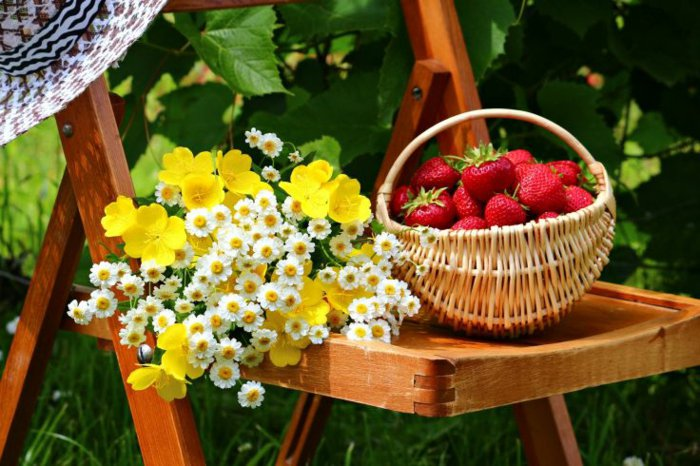 6-Korb-mit-Erdbeeren-und-gelben-Blumen