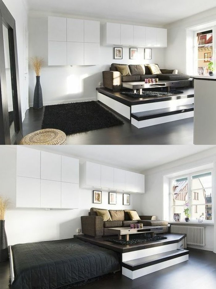 kleines wohnzimmer modern einrichten. Black Bedroom Furniture Sets. Home Design Ideas