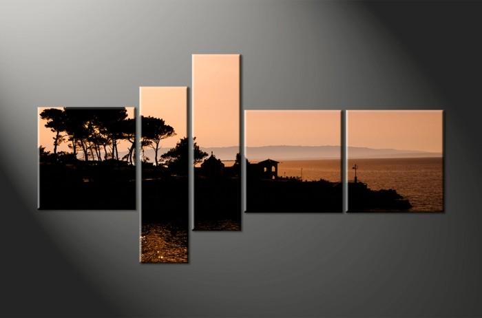 Bilder-auf-Leinwand-exotischer-Strand