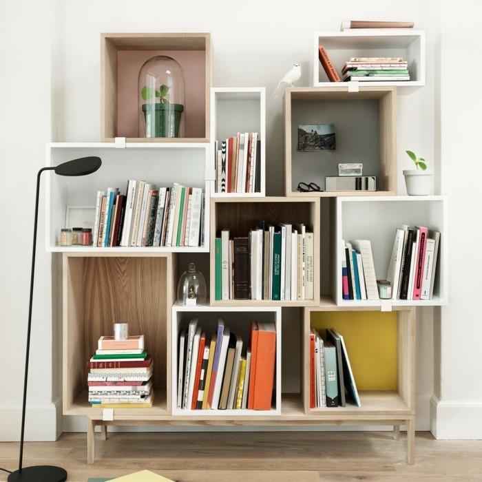 Chaotisch-gesetztes-Regal-Würfel-passend-für-Bücher