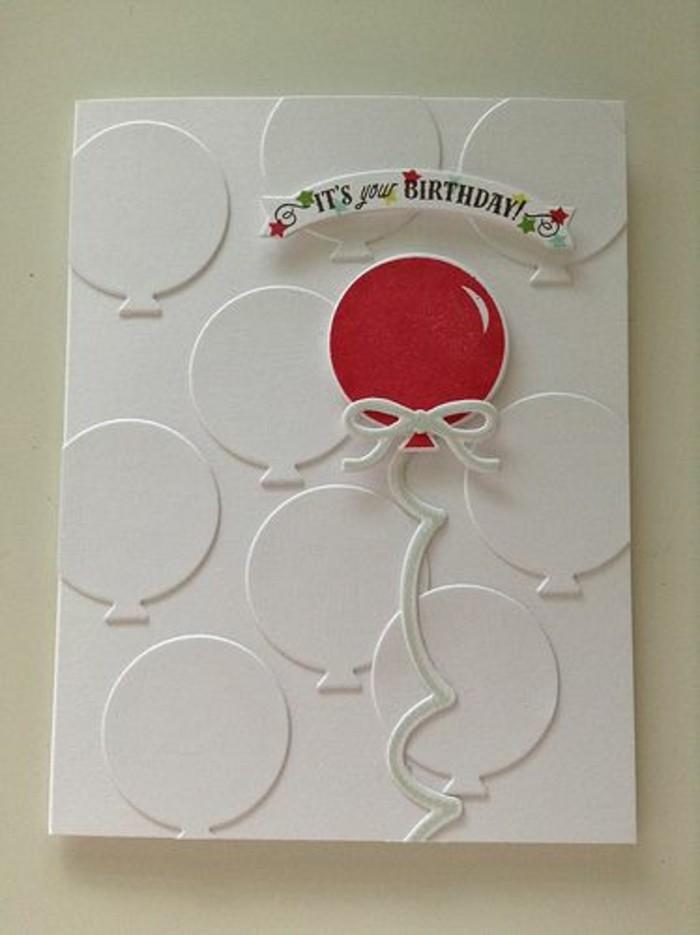 Berühmt Geburtstagskarten selber gestalten - Ideen in 80 Bildern #DF_84