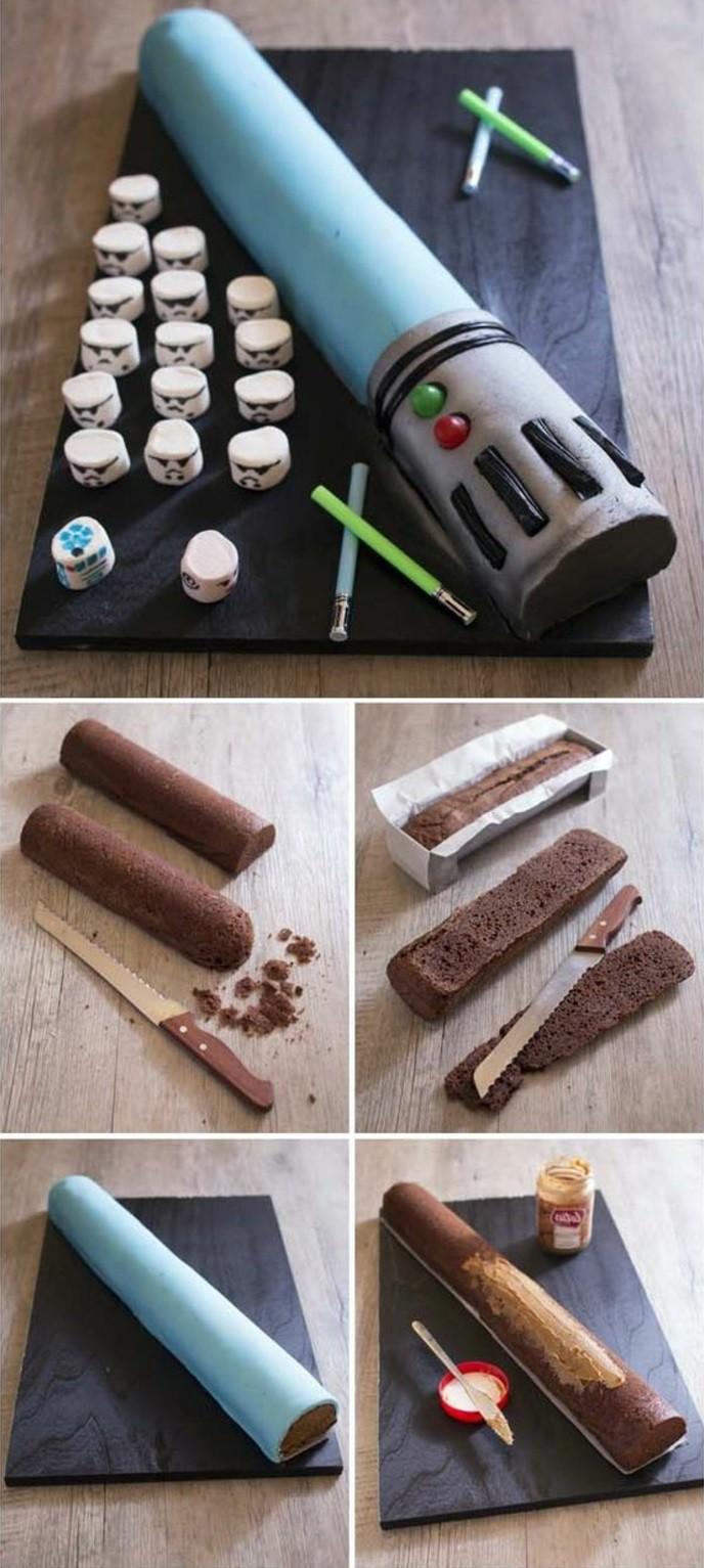DIY-Kuchen-für-Kindergeburtstag-in-der-Form-von-Laser