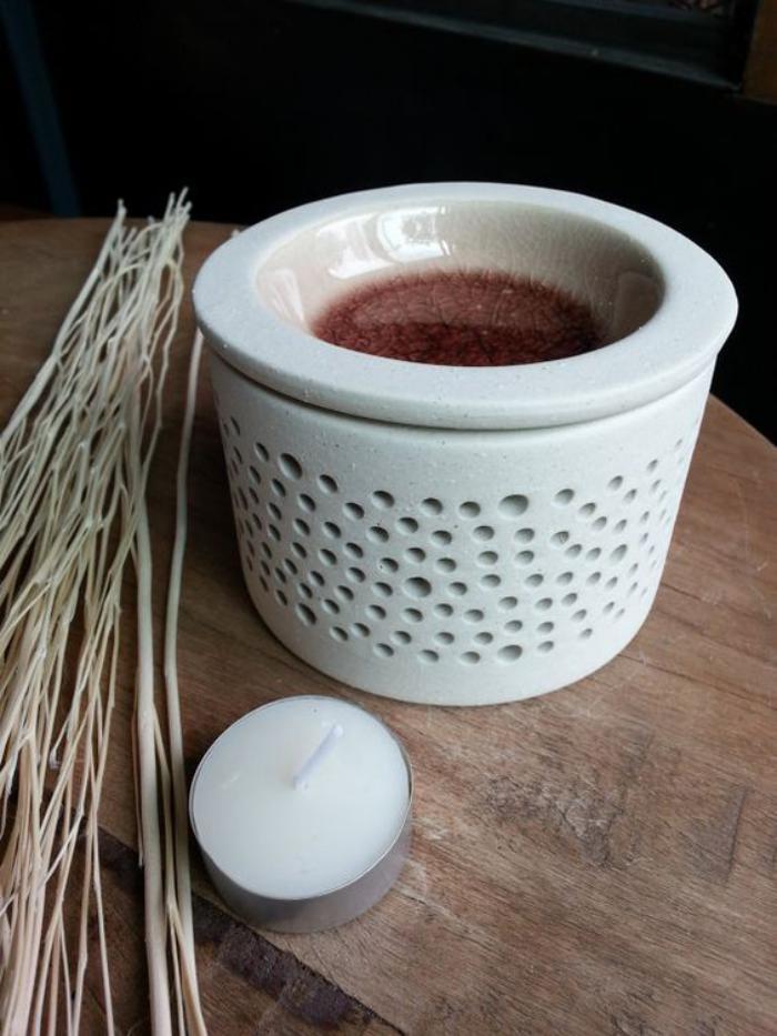 Duftkerze-Teelicht-in-Porzellan-Vase