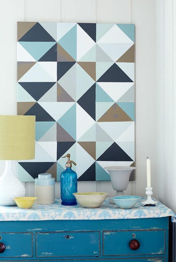 Einrichtung-in-vintage-Stil-schöne-Leinwandbilder-Wanddekoration-mit-geometrischem-Leinwanddruck