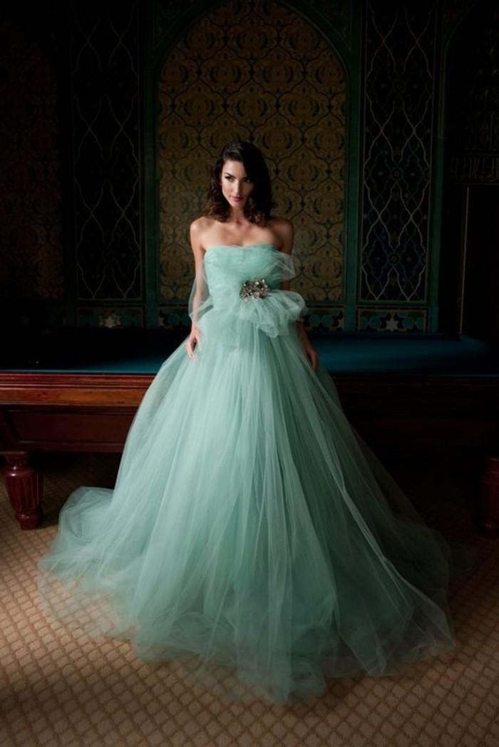 Elegante-Kleider-grün-tüll-