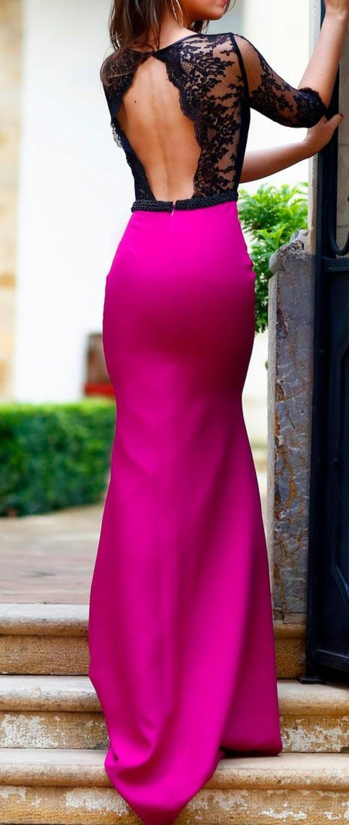 Elegante-Kleider-grell-rossa-rückenrei