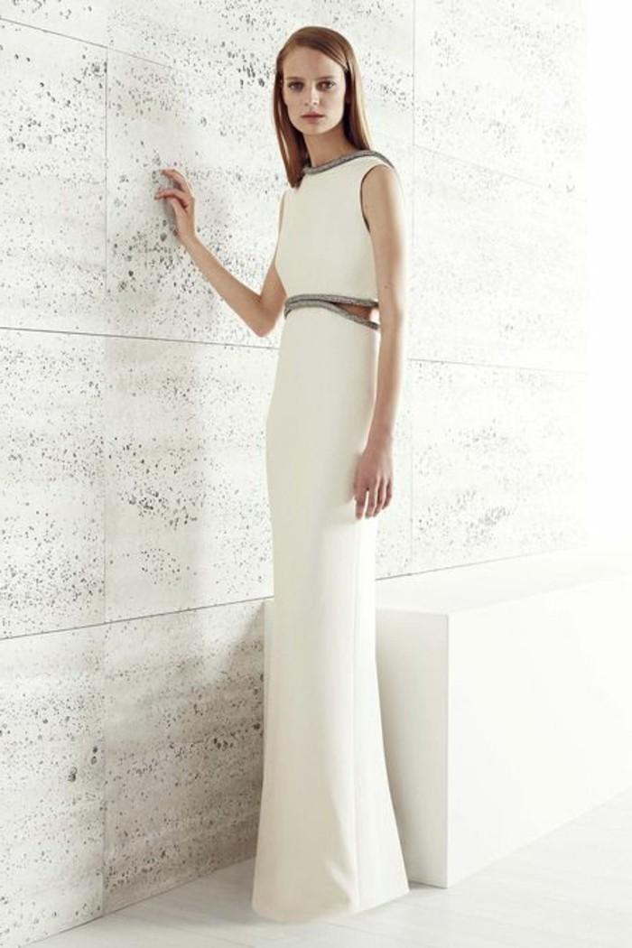 Elegante-Kleider-weiß-bodenlang