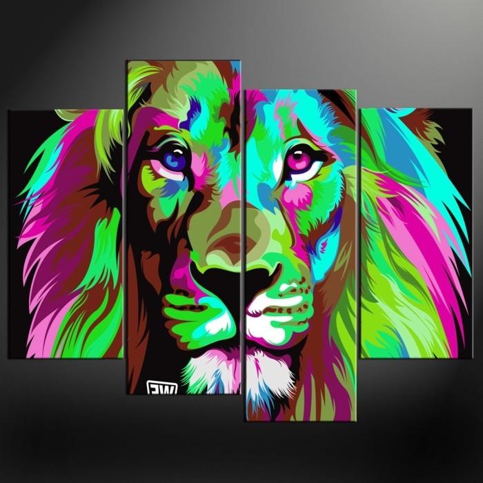 Fotos-auf-Leinwand-Löwen-Gestalt