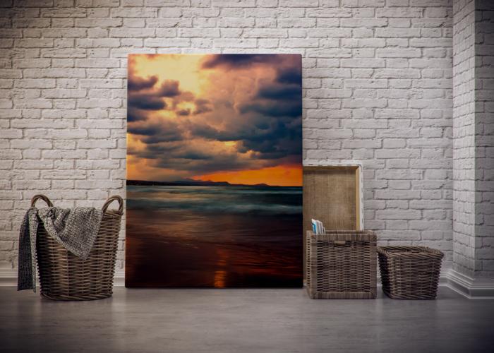 Fotos-auf-Leinwand-Sonnenuntergang-Darstellung