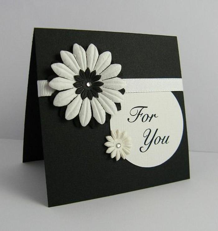 Glückwunschkarten-geburtstag-schwarz-weiss-originell-gestalten