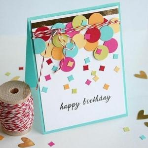 Geburtstagskarten selber gestalten - Ideen in 80 Bildern