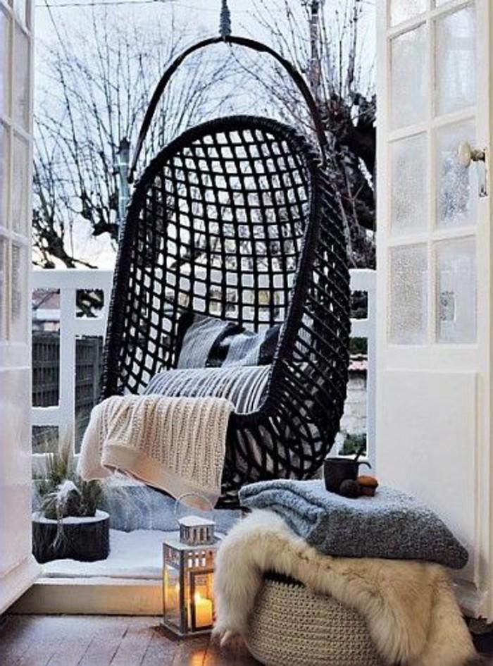Hängematte-Wohnung-Balkon-Veranda