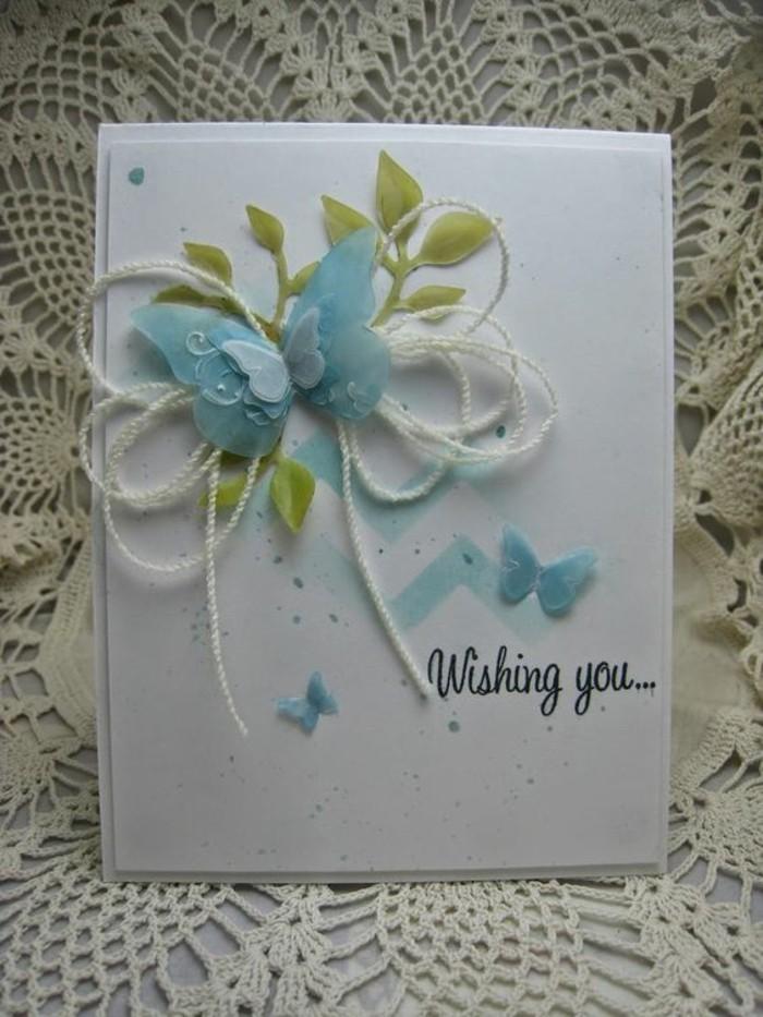 Karten Selber Machen Mac : blauer Schmetterling Muster  schöne Geburtstagskarte selbst machen