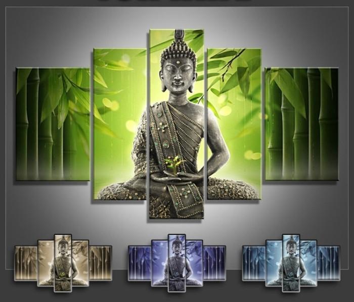Leindwandbilder-mit-asiatischen-Motiven-Buddha-Darstellungen