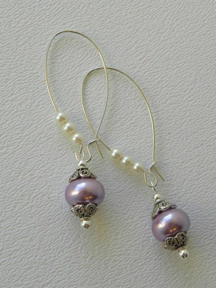 Ohrringe-perlen-lila