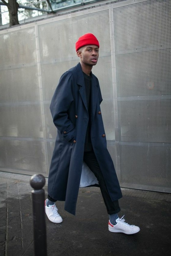 Paris-Mens-Fashion-Week-schlichtes-sportliches-Modell-Hut