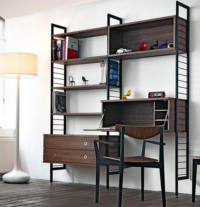 Regalsysteme-Holz-mit-Schreibtisch-und-Schubladen