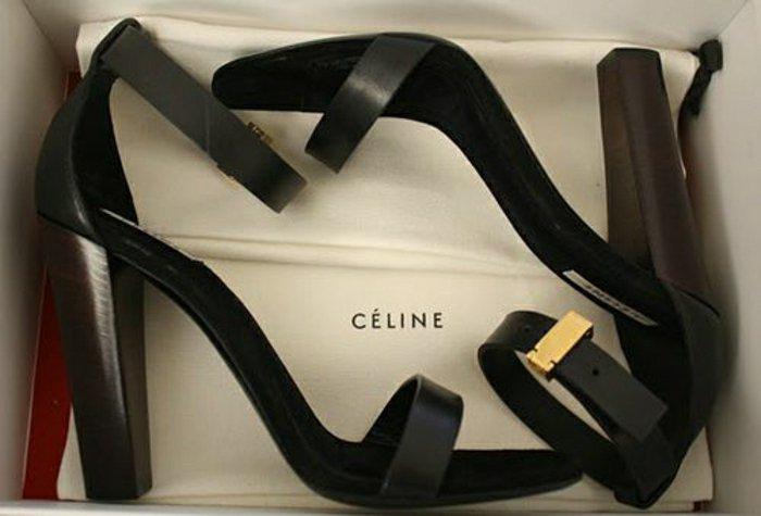 Sandalen-von-Celine-mit-hohem-Absatz