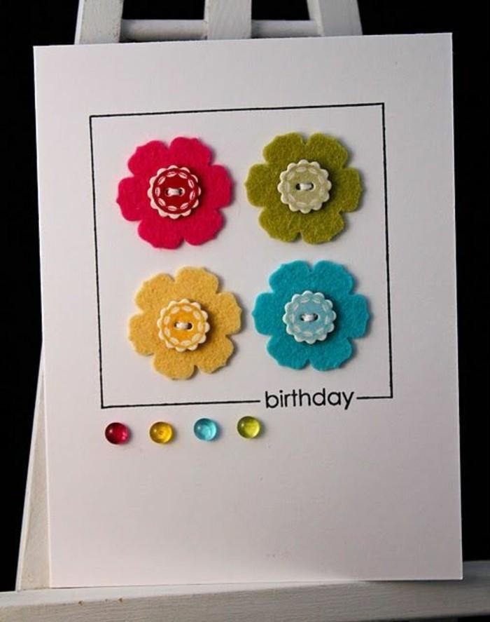 Schöne-Geburtstagskarten-blumen-selber-machen