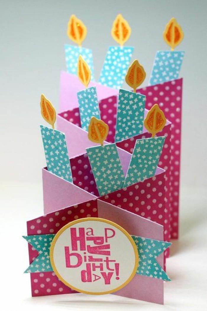Schöne-Geburtstagskarten-mit-kerzen-originell-gestalten