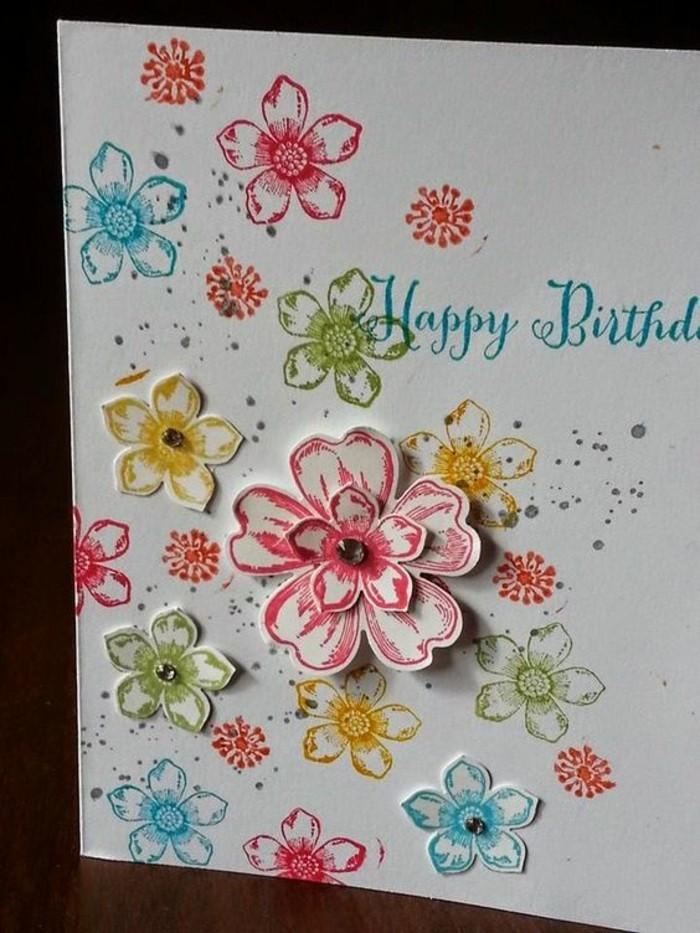 Schöne-Geburtstagskarten-selber-machen-kunterbunten-blumen