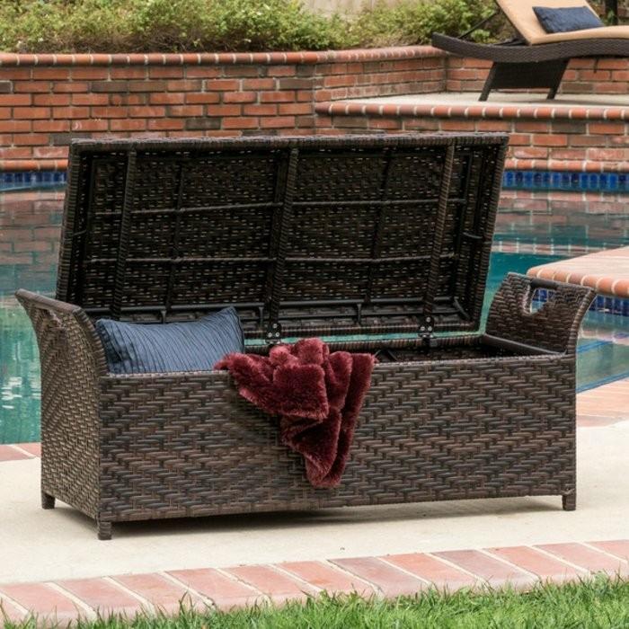Gartenmobel Sofa Lounge : In Kombination mit einem Tisch kann die Sitzbank mit Stauraum jede