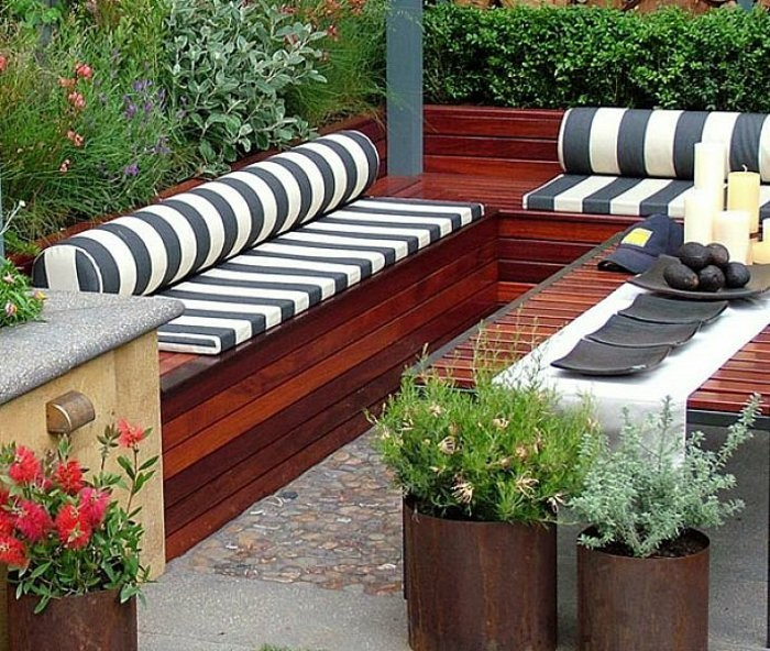 Sitzgelegenheit Garten sitzbank mit stauraum für innen oder außen archzine