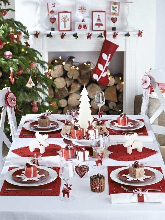 Tischdekoration-Ideen-für-Weihnachtenin-Rot-und-Weiß