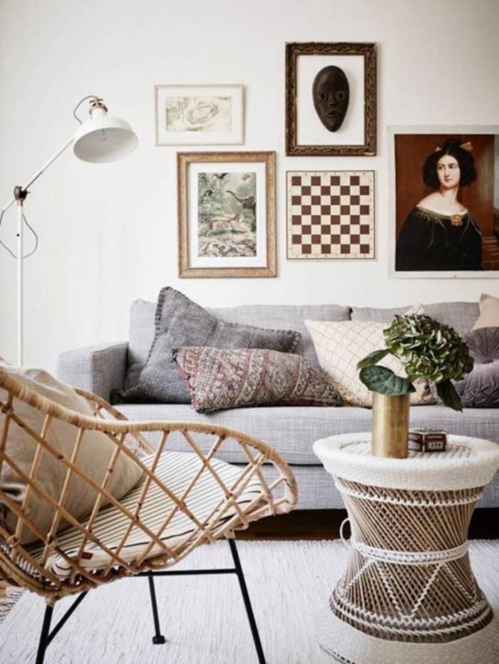 Wohnzimmer-mit-artistischem-Interieur-Rattanmöbel-mit-einzigartigem-Design