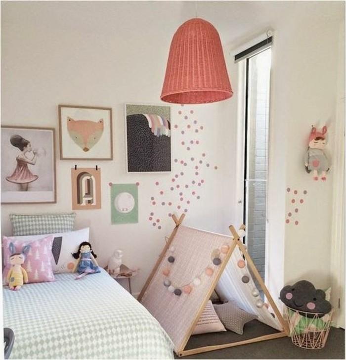 abstrakte-schöne-Wandbilder-für-kinderzimmer-mit-Mädchen-und-Fuchs