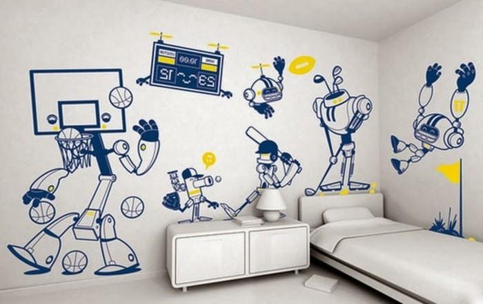 schöne-Wandbilder-für-kinderzimmer-mit-veschiedenen-sportarten
