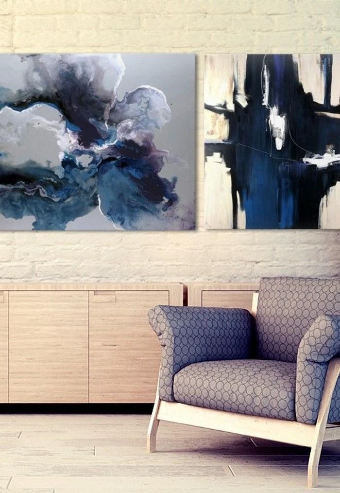 abstrakte-blaue-Bilder-auf-Leinwand