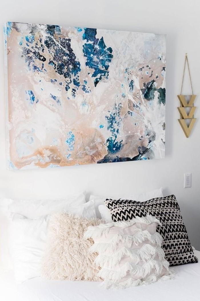 abstraktes-Bild-auf-Leinwand-in-Boho-Stil