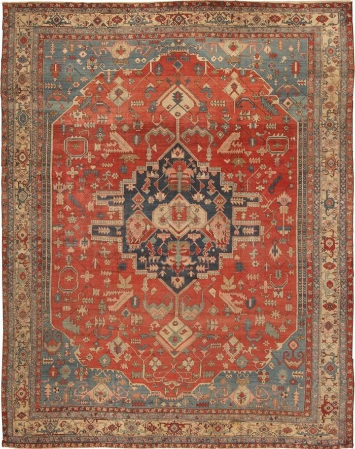 alter-Perserteppich-mit-ausgeblichenen-Farben