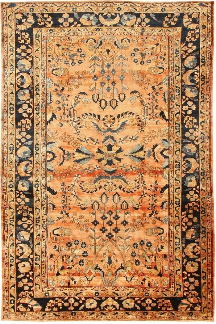 antiquarischer-perserteppich-in-oranger-farbe