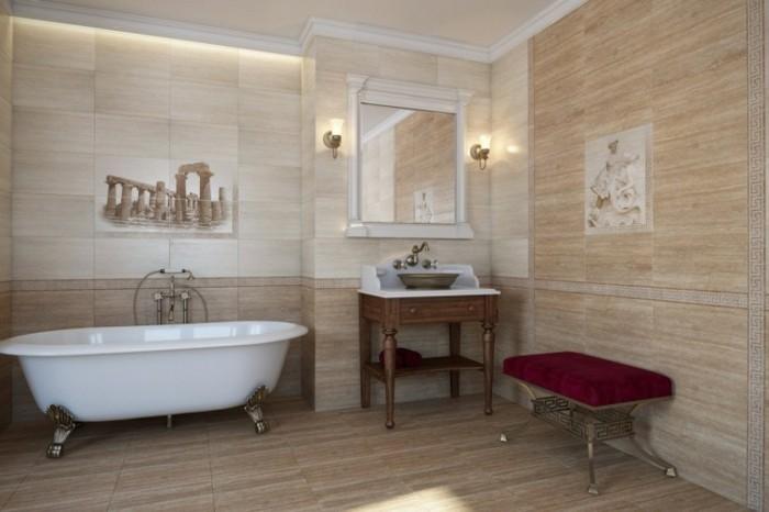 badezimmer-bodenfliesen-holzoptik-retro-badewanne-in-weiß-spiegel-mit-weißem-rahmen
