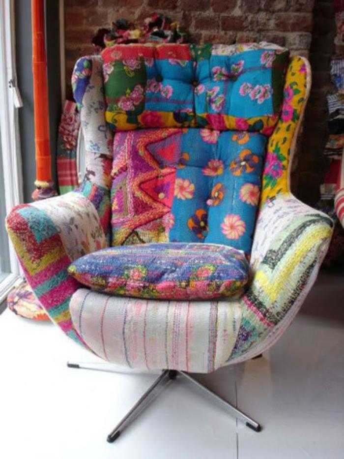 patchwork sessel 40 atemberaubende modelle. Black Bedroom Furniture Sets. Home Design Ideas